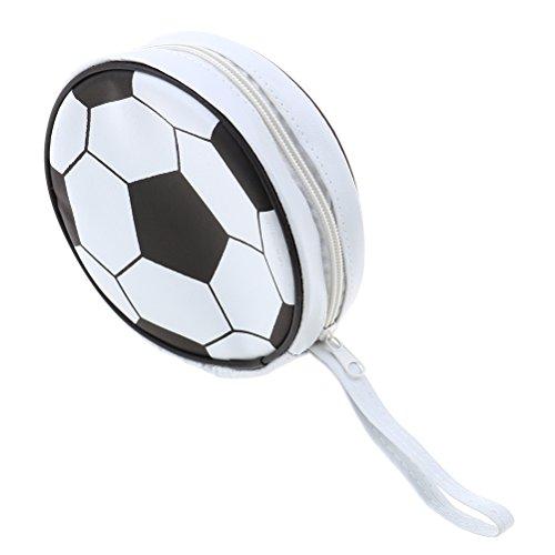 Diyiming Visor CD Aufbewahrung Tasche tragbar mit Reißverschluss CD DVD-Halter Stylisher CD-Aufbewahrungsbox Fußball