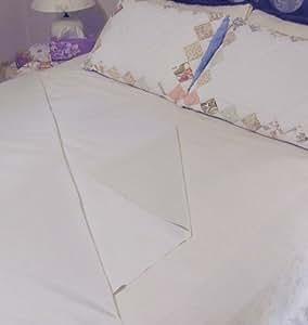 560 8037 0022 al se imperm able en coton et caoutchouc 91 44 x 137 16 cm blanc. Black Bedroom Furniture Sets. Home Design Ideas