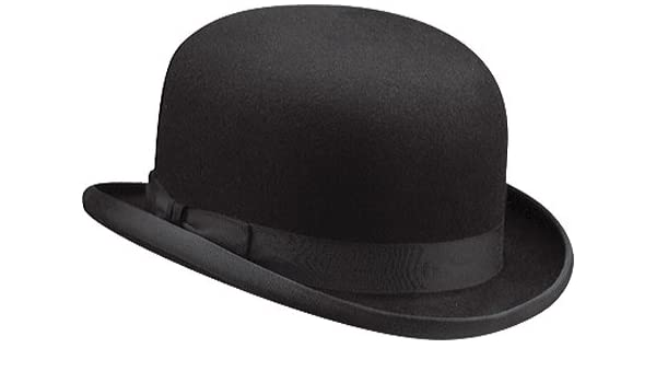 New Black Flock Bowler Hat