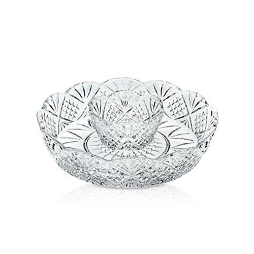 Godinger® Crystal Dublin chip-n-dip Serviertablett Godinger Crystal
