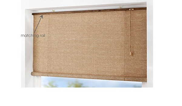 Natural Dark Brown Wicker Roll Up Roller Blind Blinds 180x160cm Amazon Co Uk Kitchen Home