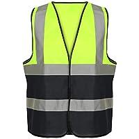 Hi Vis Vest High Viz Visibility 2 Band Brace Reflective Flashing Strips Security Work Wear Contractor Safety Vests Waistcoat Top Size S-6XL