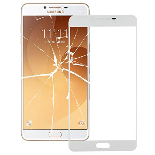 AUSSENGLASOBJEKTIV Cellphone ERSATZTEILE XZS Frontglas-Außenglaslinse für Galaxy C9 Pro / C900 (Schwarz) (Farbe : Weiß) -