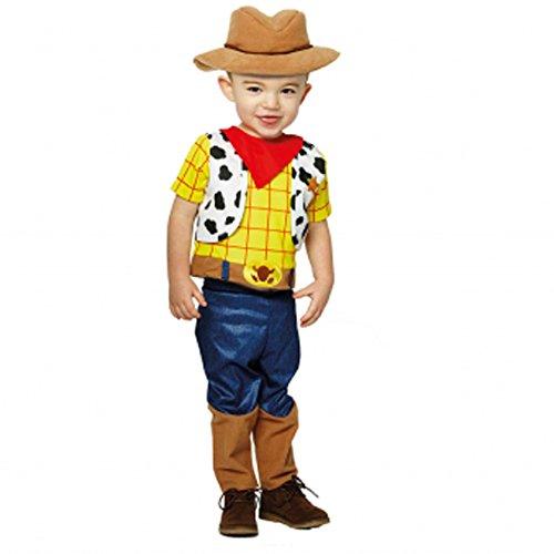 Amscan x-DCWOS18 Toy Story Kinderkostüm Woddy Premium, 86-92 -