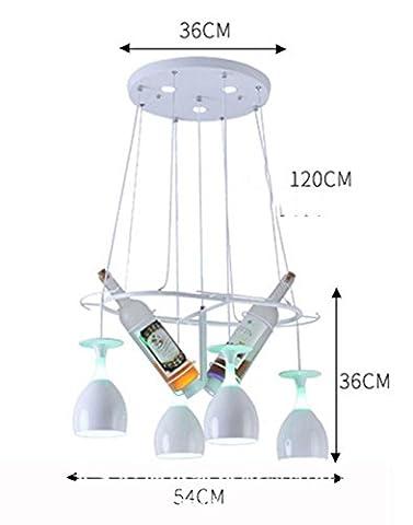 Brosse à LED créative restaurant bar cafétéria chandelier moderne simple