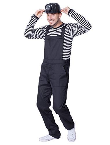 Deiters Latzhose schwarz XXL - Bergarbeiter Kostüm