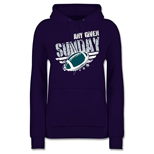 Shirtracer American Football - Any Given Sunday Football Philadelphia - XL - Lila - JH001F - Damen Hoodie