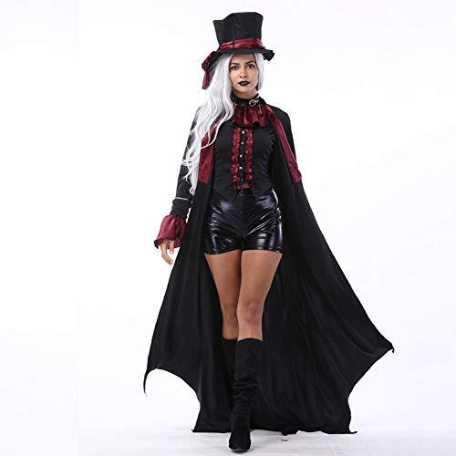 Kostüm Sensenmann Womens Lady - JH&MM Halloween Kostüm Erwachsenen Paar Teufel Kostüm Mantel Rollenspiel Party Game Maskerade Leistung,Woman