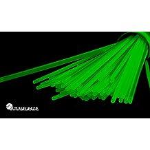 OmniaLaser OL-GLOW100GREEN - Pulseras luminosas, glow stick, con conectores, 100 unidades