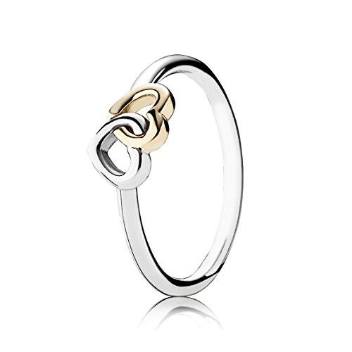anello pandora con cuore rosa