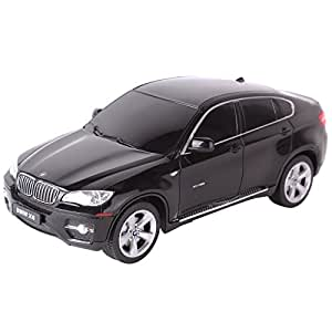 Rastar 31700 Voiture Radiocommandée BMW X6 Miniature Echelle 1:24 Noir