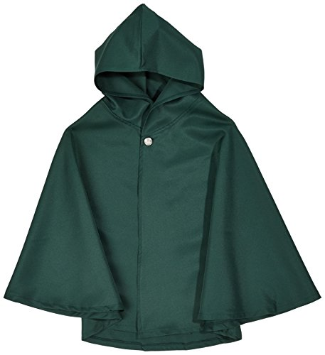 Katara 1731 - Attack On Titan Shingeki No Kyojin Cosplay Cape Umhang Jacke Hoodie - Die Ideale Verkleidung Für Jeden Fan Japanischer Manga Oder Anime Für Authentischen Spaß - Größe S, Grün