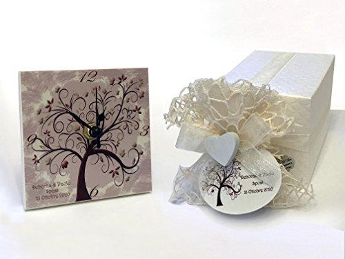 Bomboniere matrimonio orologio albero della vita