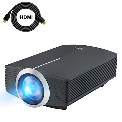 Deeplee DP500 Proiettore 2000 Lumen Mini Videoproiettore Portatile Home Theater con USB HDMI VGA AV SD per Home Cinema Video Game Film supporto PC portatili PS3/PS4 Xbox One Wii con Cavo HDMI Gratuito