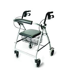 Days 252 Essentials Lightweight Aluminium Rollator - Silver Grey (Eligible for VAT relief in the UK)