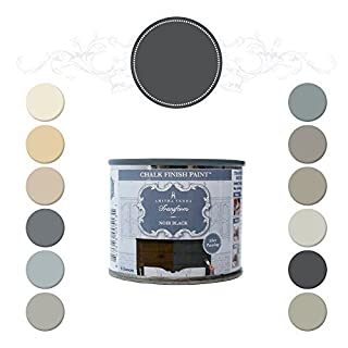 Amitha Verma Chalk Finish Paint, No Prep, One Coat, Fast Drying | DIY Makeover for Cabinets, Furniture & More, 4 Ounce, (Noir Black) by Amitha Verma