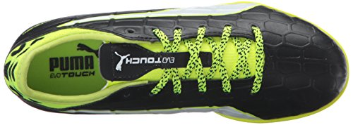Puma evoTOUCH 3 TT Jr Cuir Chaussure de Course black-white-safety yellow