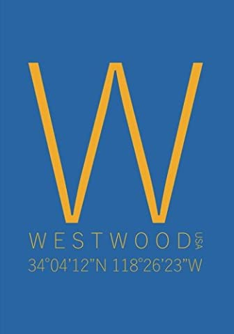 Westwood California Minimalist Typography Notebook: 7 x 10 Inch Notebook/Journal with the University of California at Los Angeles (UCLA) Coordinates