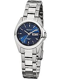 Regent de mujer reloj de pulsera elegante Analog Reloj de cuarzo de acero pulsera de plata