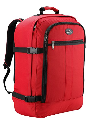 Cabin Max Backpack Flight Approved Carry On Bag Massive 44 litre Travel Hand Luggage 55x40x20 cm (Red)