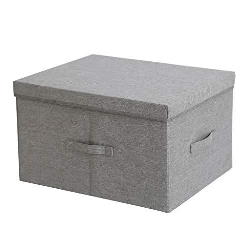 t Deckel Aufbewahrungsbox - Größer Würfel Oxford Tuch Veranstalter 25 / 39L Lagerplätze - Büro (Farbe : Gray, größe : 50 * 40 * 30 cm) ()