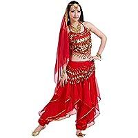 BELLYQUEEN Robe Danse Ventre Femme Danse Orientale Costume Classique Belly Dance Taille Unique Danse Indienne 7 Couleurs
