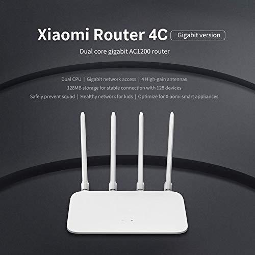 asterisknewly Wireless Router für Xiaomi Mi 4C Gigabit 100M 2,4 GHz 5 GHz Internet Signal Booster 4 Remote-Antennen Zur Steigerung Der WLAN-Abdeckung -