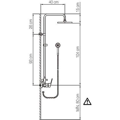 41ilePSqIlL. SS416  - COLUMNA DE DUCHA CLEVER CIRCULAR MANUAL BOX