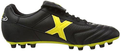 MUNICH - MUNDIAL - Chaussures Football Homme Noir (Noir/Jaune)
