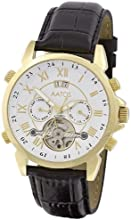 Comprar Aatos JaakkoLGW - Reloj de caballero automático, correa de piel color negro, caja de acero inoxidable bañado en oro