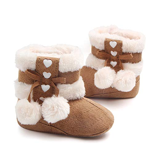 Mishlee Baby Shoes, Baby Boots Winter Shoes, Christmas Boots - Red Color, Brown Color