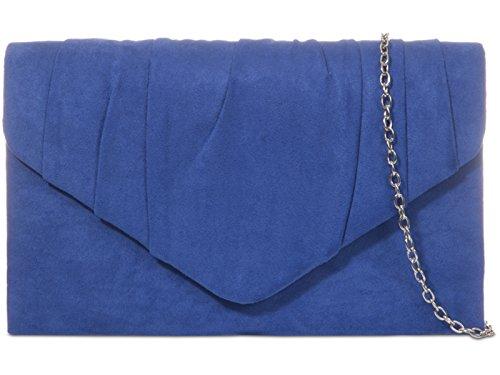 fi9® , Pochette pour femme noir noir Taille M Bleu Marine