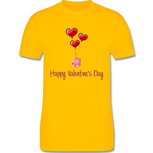 Valentinstag - Happy Valentine's Day Geschenk Herz Luftballon - Herren Premium T-Shirt Gelb
