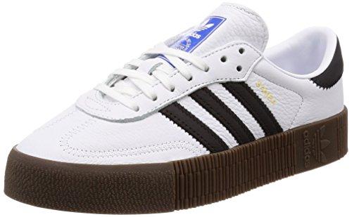 separation shoes 633a9 c5adf Adidas SAMBAROSE W, Zapatillas de Deporte para Mujer, Blanco (FtwblaNegbás
