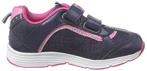 Lico Shine V, Baskets Basses fille Bleu - Blau (marine/pink)