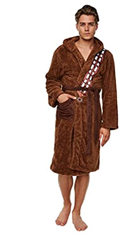 Peignoir de bain polaire homme Star Wars Chewbacca marron