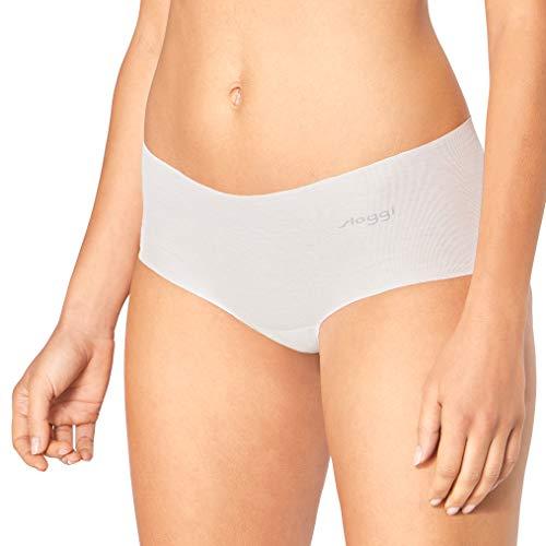 Sloggi Damen Short, Zero Cotton, 3 Stück in Weiß, Free Cut Technologie (3, S)