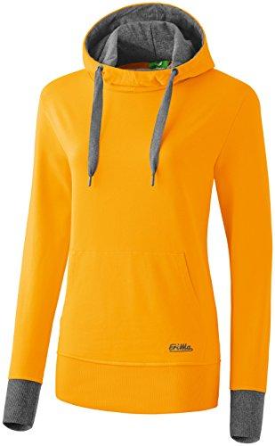 erima Damen Sweatshirt Hoodie, Curcuma/Grau Melange, 38, 207527