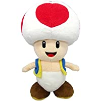 Super Mario Peluche Toad con licencia oficial de Nintendo, 20 cm (AGMSM6P-01T