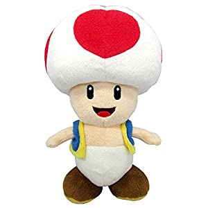 Super Mario gmsm6p01toadnew Bros-Producto Oficial de Nintendo 24cm Peluche Toad
