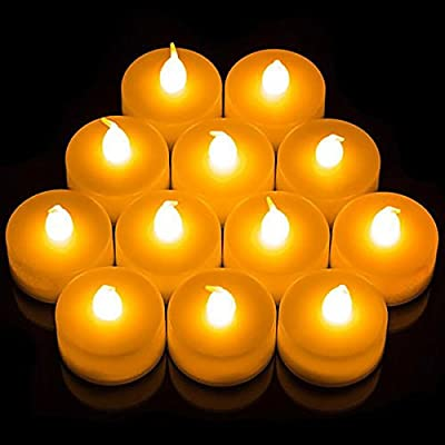 24x LED Candles, Flickering Tea Lights Battery Operated, Amber Glow from Craft Fair