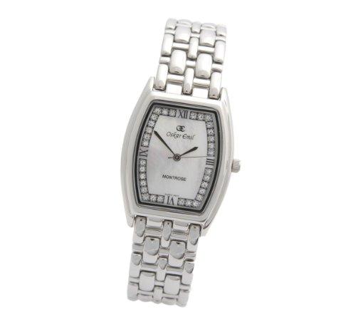 Oskar Emil - 600g Ladies White - Montre Homme - Quartz - Analogique - Bracelet Acier Inoxydable Argent