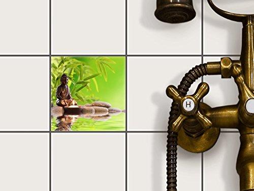 Fliesenfolie selbstklebend 10x10 cm 1x1 Design Buddha Zen (Erholung) Klebefolie Küche Bad