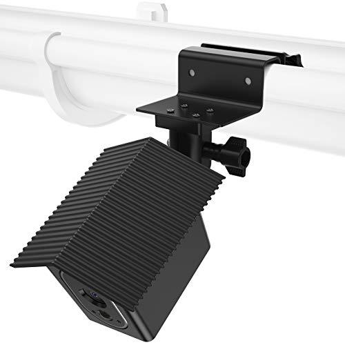 BECEMURU Wandhalterungs-Kit Wetterfestes Dach und Stabilität Wasserabweisender Dachrinnenschutz für Arlo Hd (Schwarz) (Camaras Para Exteriores)