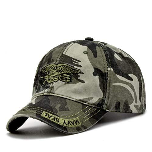 JKYJYJ Hochwertige Camo Baseball Cap Männer Camouflage Navy Seal Tactical Cap Herren Hüte Und Mützen Knochen Armee Snapback Für Erwachsene -