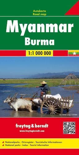 Myanmar, Birmania, mapa de carreteras. Escala 1:1.000.000 Freytag & Berndt (Auto karte)