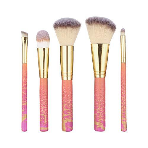 DaySing Brosse Pinceaux Maquillage,5 Pcs Base en Bois CosméTique Sourcils Fard à PaupièRes Pinceau Maquillage Ensembles De Pinceaux Outil Poils Synthetiques Doux Et sans Cruau