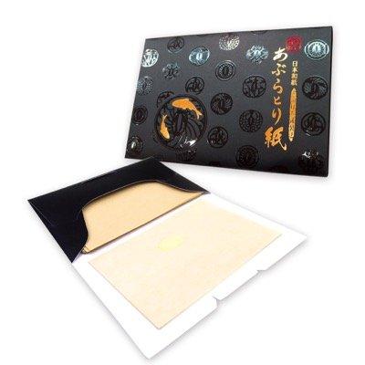 Gesichtsöl Löschpapier - Weicher Hanf, Made in Japan - oil control blotting paper - 8.5cm x 6.0cm, pack mit 100 Blätter (X1 pack)