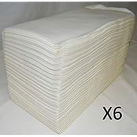 Toallas de Celulosa 40x80 Desechables x 6 Paquetes de 100und Peluquería/Estéticas/Gym/Hospitales/Mascotas 600 Unidades