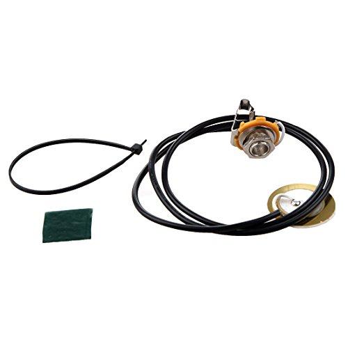 REFURBISHHOUSE Guitar Parts Acoustic Pickup Pre-Wired Piezo Amplifier Jack 20 8 Gauge Amplifier